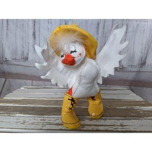 Annalee Holiday - Vintage Annalee Doll Duck in Yellow Rain Boos with